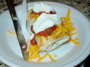 Baked Chicken Chimichangas 008